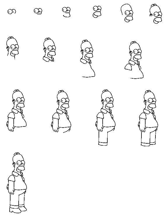 how to draw the simpsons 35 terbaik untuk bart simpson drawing cool mopppy to the how simpsons draw
