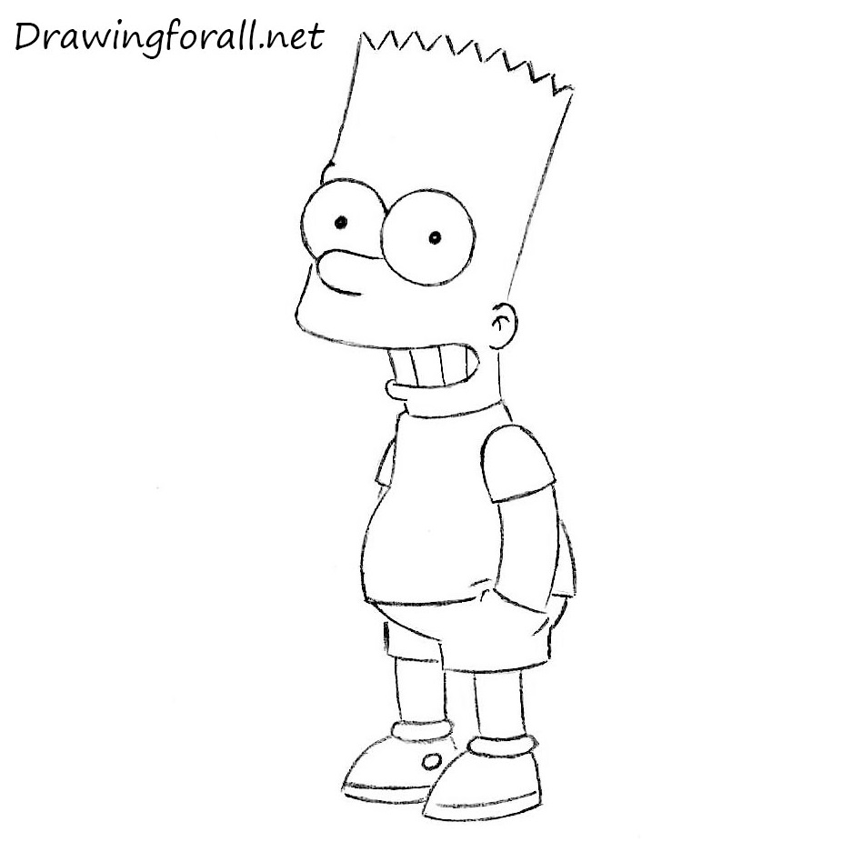 how to draw the simpsons how to draw bart simpson drawingforallnet the to simpsons draw how