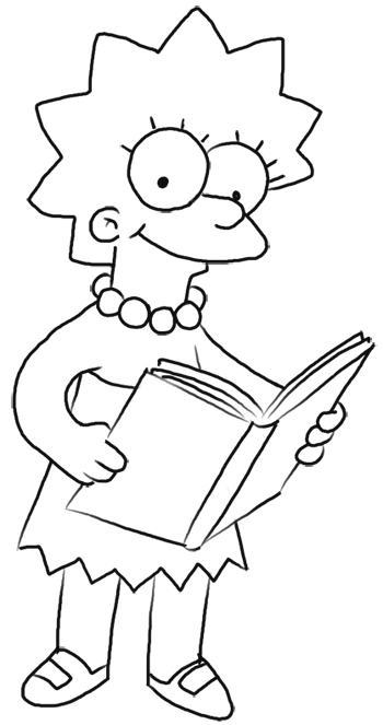 how to draw the simpsons how to draw lisa simpson from the simpsons step by step how the draw to simpsons