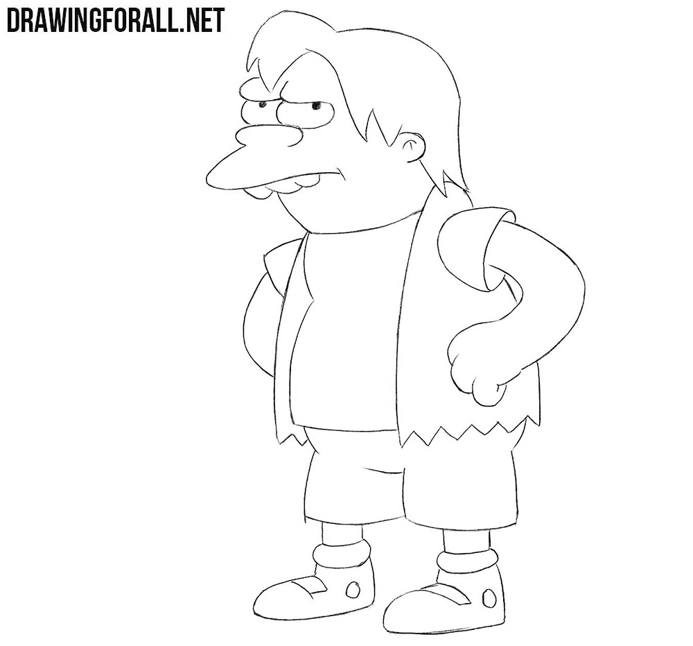 how to draw the simpsons how to draw nelson the simpsons drawingforallnet simpsons how to the draw