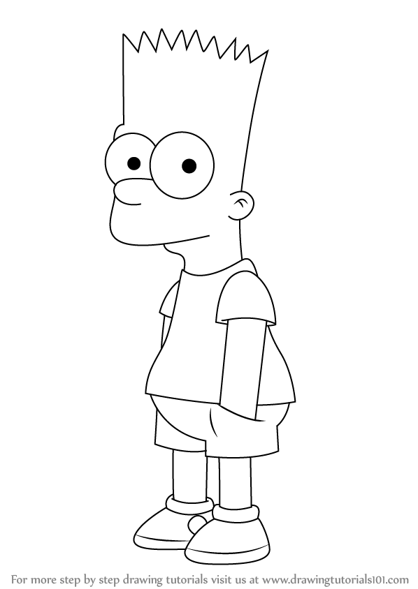 how to draw the simpsons step by step how to draw bart simpson from the simpsons how simpsons to the draw