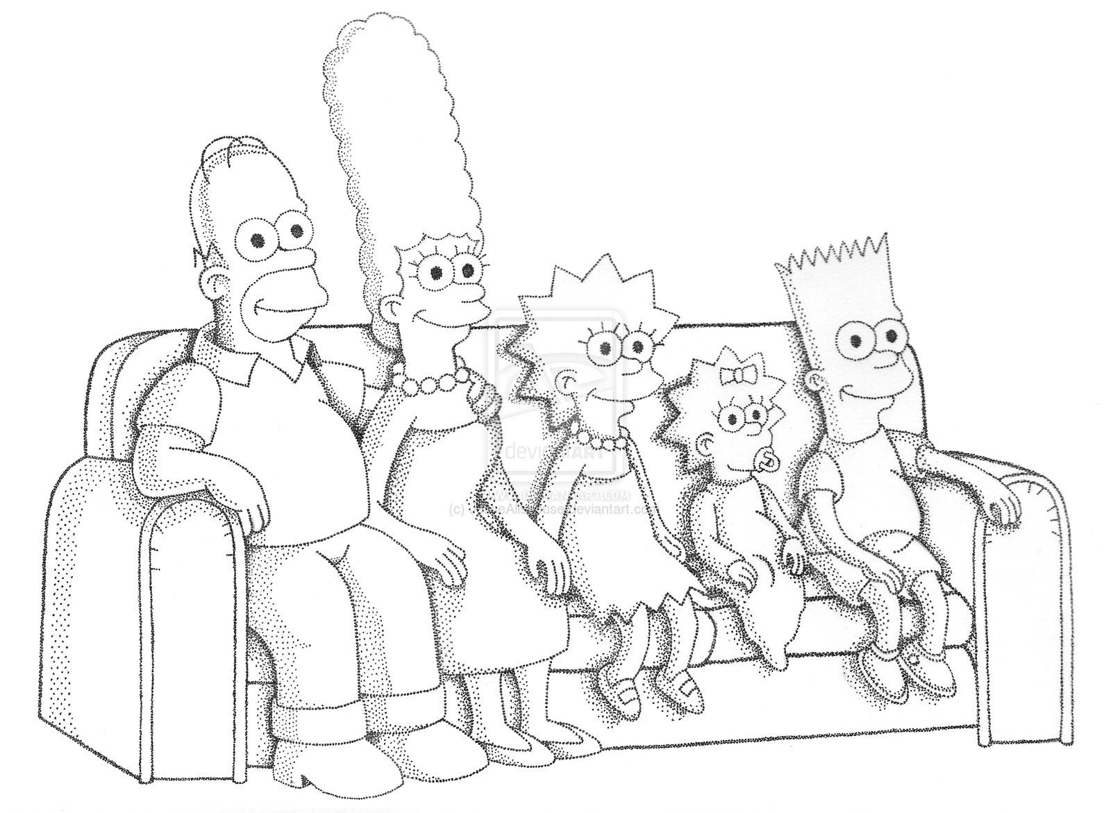 how to draw the simpsons the simpsons stippling by jesseallshouse on deviantart in the simpsons draw to how