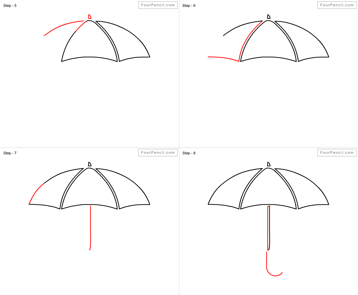 how to draw umbrella step by step how to draw an umbrella easy drawings doodle drawings step to by umbrella how step draw