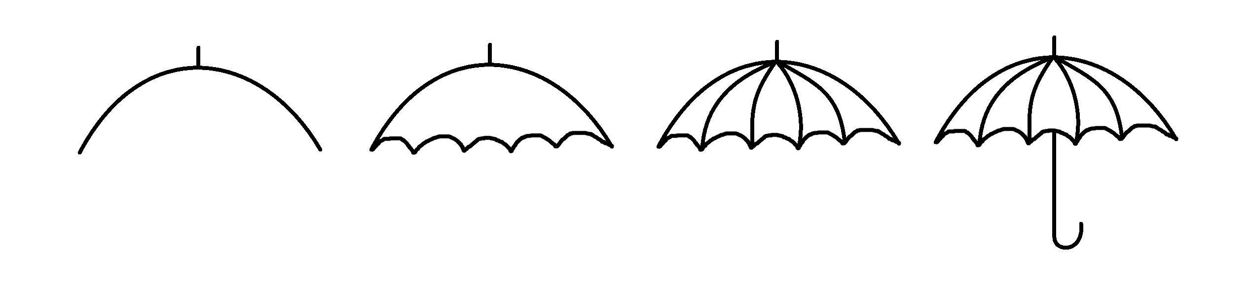 how to draw umbrella step by step how to draw an umbrella for kids drawingsforkidsnet step umbrella draw how by step to