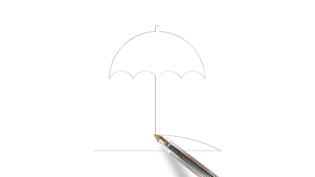 how to draw umbrella step by step how to draw beach umbrella step by step simple drawing to by step how umbrella draw step