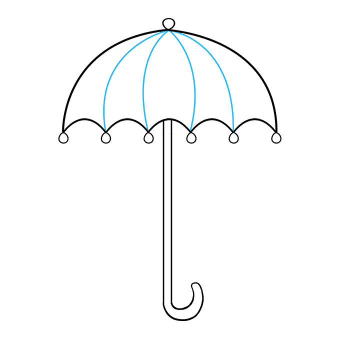 how to draw umbrella step by step how to draw umbrella really easy drawing tutorial invierno draw step to by how step umbrella