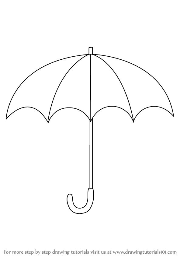 how to draw umbrella step by step learn how to draw an open umbrella everyday objects step by how to step step umbrella draw