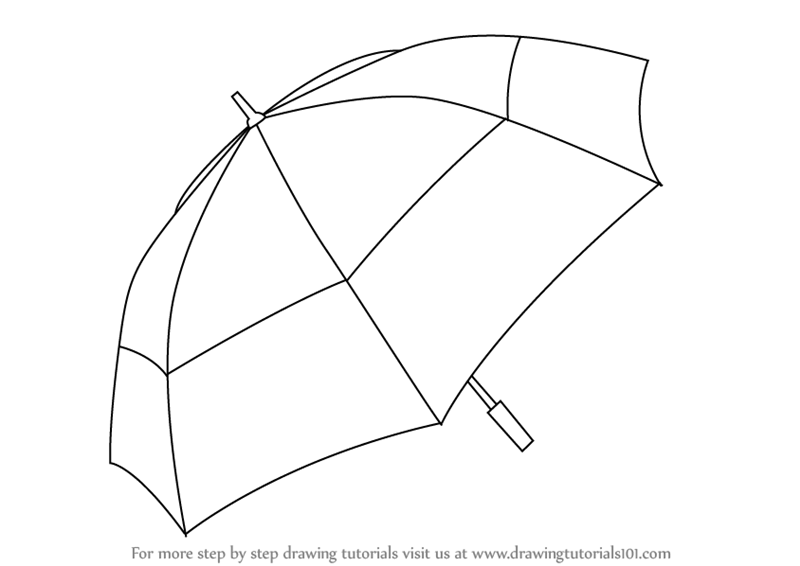 how to draw umbrella step by step learn how to draw an umbrella everyday objects step by step to step draw how umbrella by