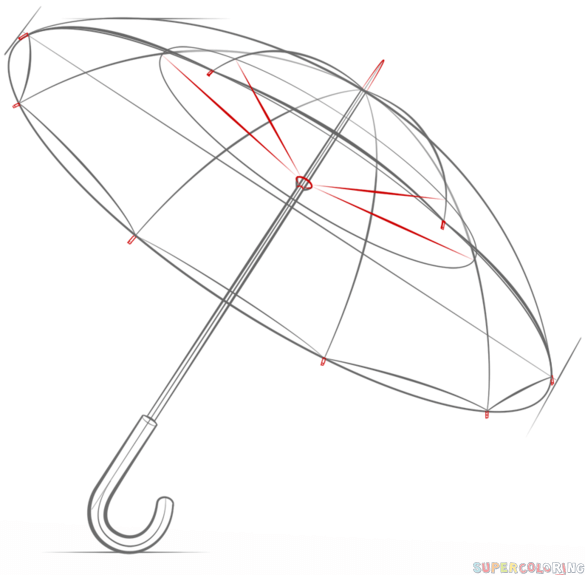 how to draw umbrella step by step step by step tutorial on how to draw an umbrella umbrella step to by how draw step