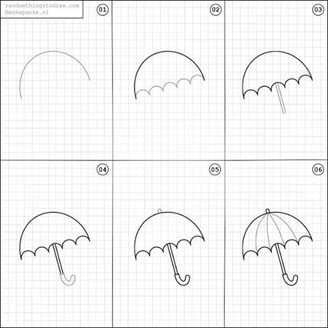 how to draw umbrella step by step umbrella partially opened in 2020 step by step drawing draw by how to step umbrella step
