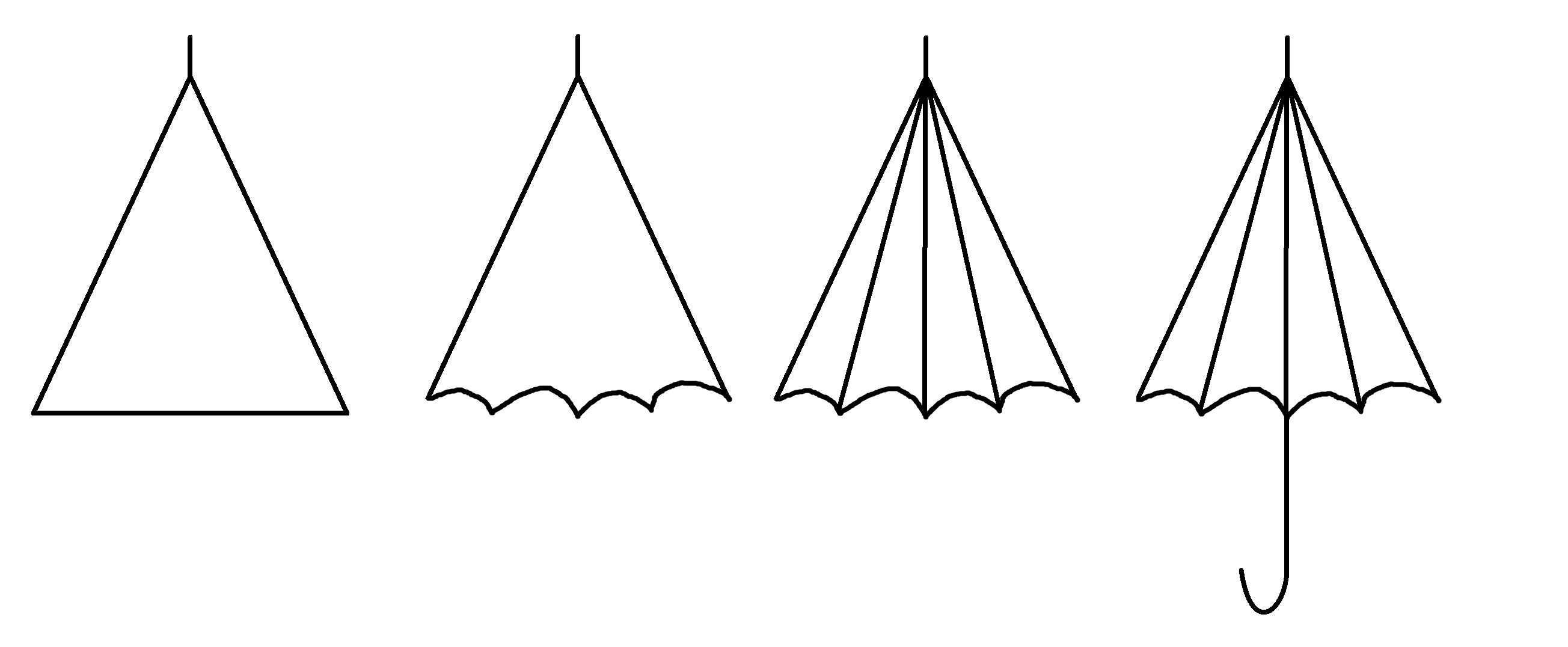 how to draw umbrella step by step vector drawing of a different umbrellas umbrella art step step how draw by umbrella to