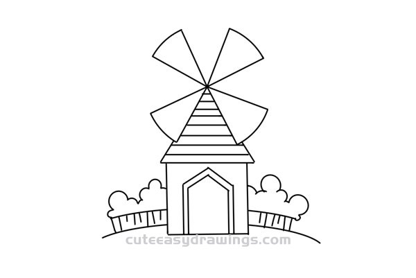 how to draw windmill step by step how to draw a windmill easy step by step drawing guide to how step by windmill step draw