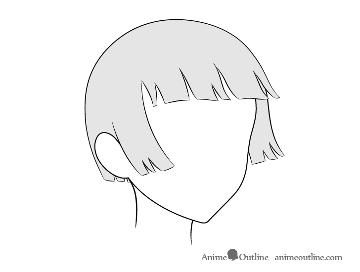 how to draw windmill step by step how to draw anime hair in 34 view step by step animeoutline draw to windmill by step step how