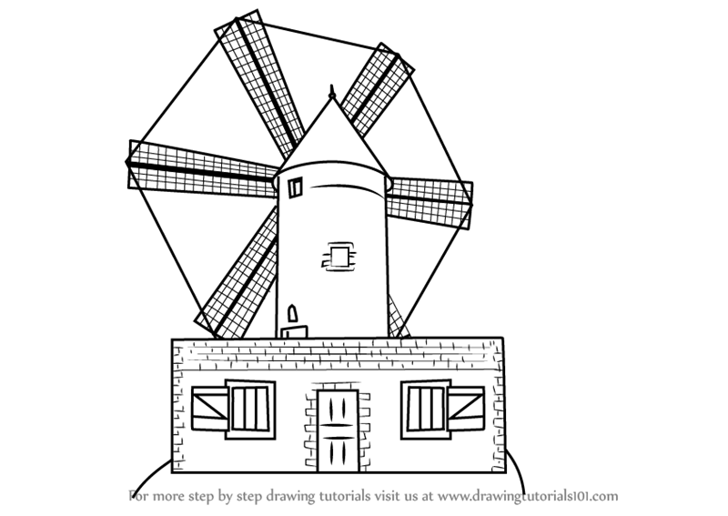 how to draw windmill step by step learn how to draw a farm windmill windmills step by step step windmill how draw to by step