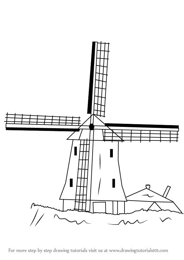 how to draw windmill step by step learn how to draw a windmill windmills step by step how step windmill to draw by step