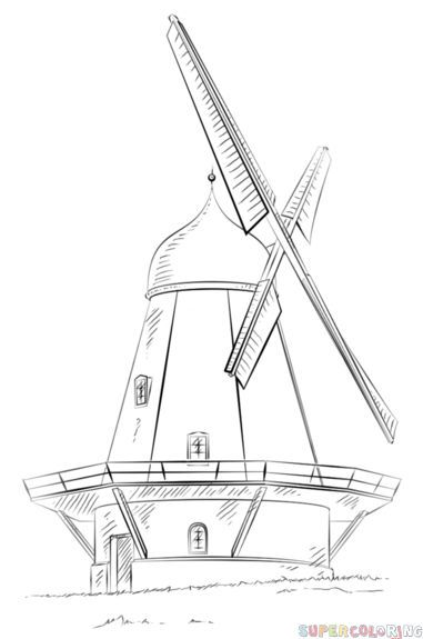 how to draw windmill step by step learn how to draw an electric windmill windmills step by by step draw to how step windmill