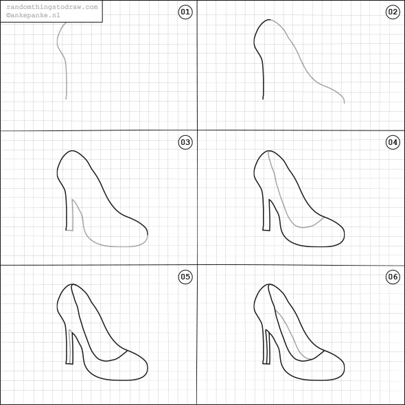 how to sketch heels anatoref high heels row 1 left right row 2 row in heels how to sketch