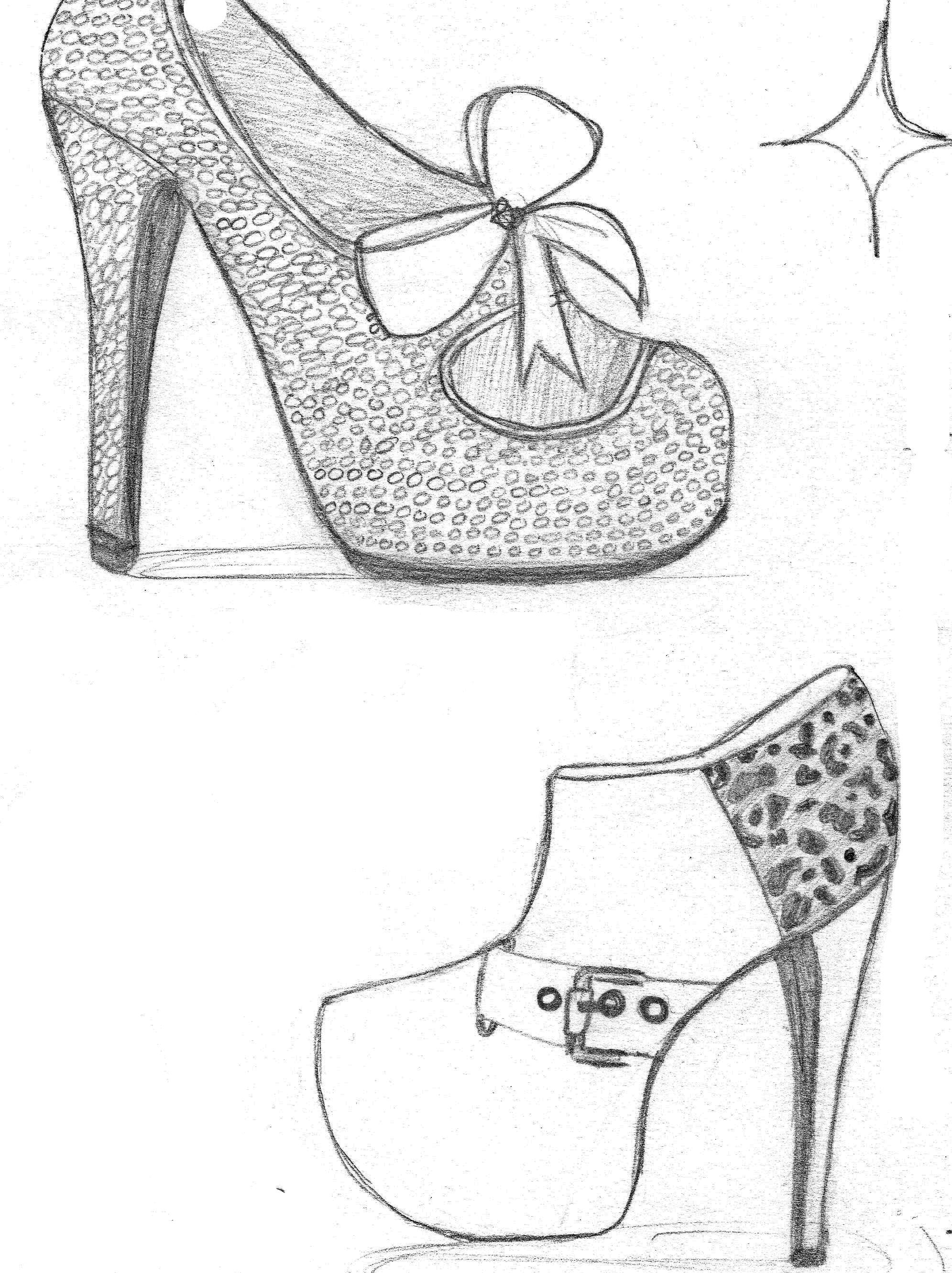 how to sketch heels high heel drawing at getdrawings free download to heels how sketch