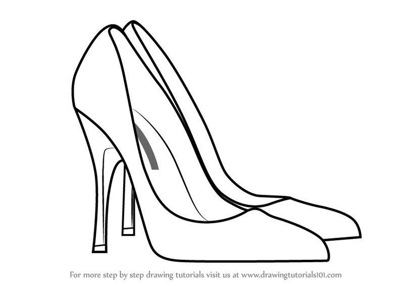how to sketch heels high heel drawing template at paintingvalleycom explore sketch heels how to