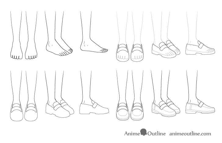 how to sketch heels how to draw anime shoes step by step animeoutline how to sketch heels