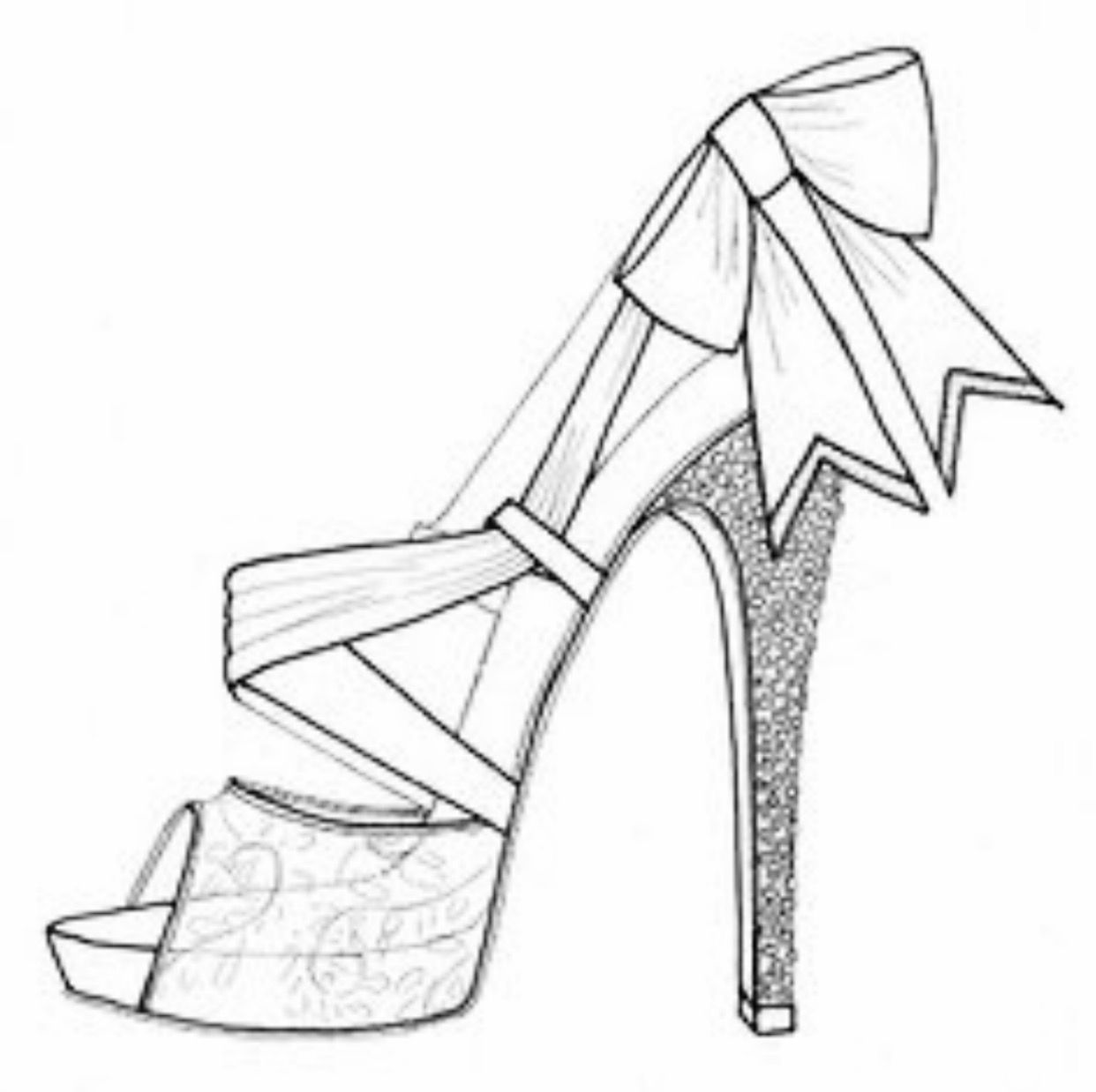 how to sketch heels sketches of high heel shoes at paintingvalleycom how to sketch heels