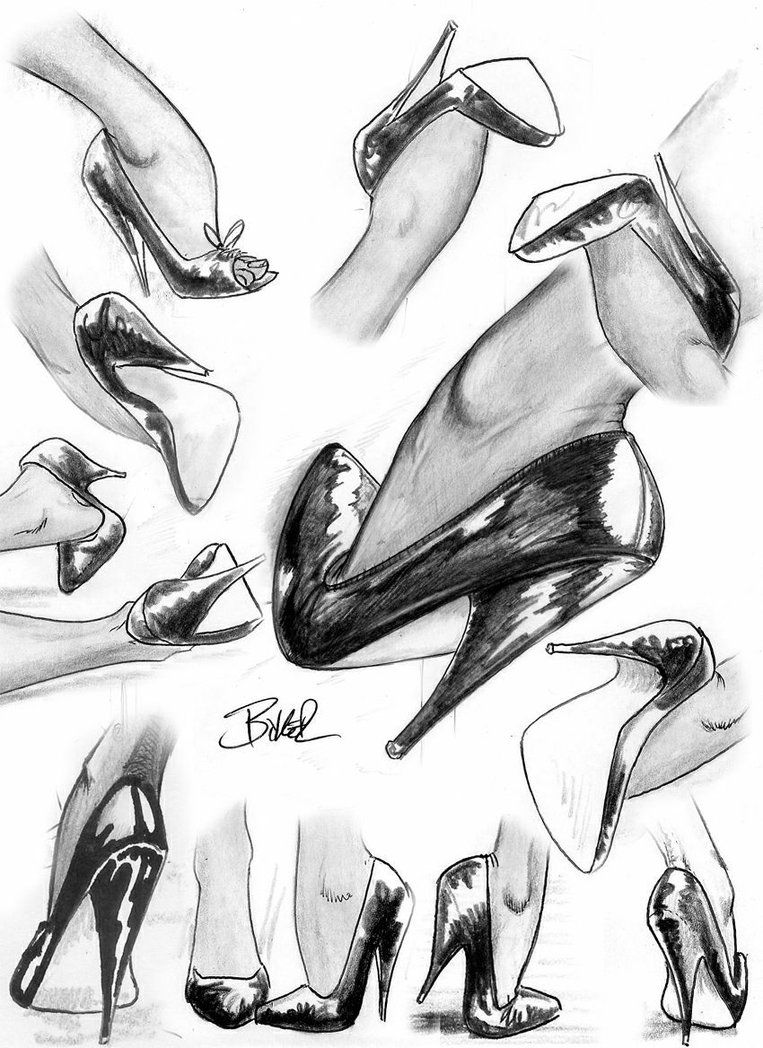 how to sketch heels someone requested a shoe tutorial this is the simplest heels sketch how to