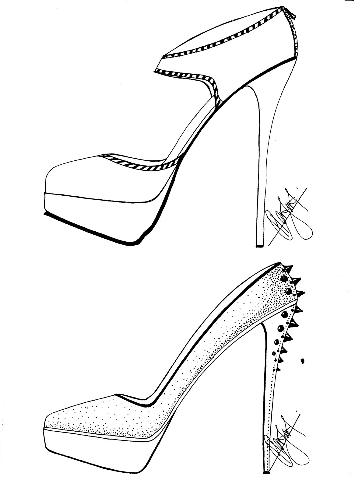 how to sketch heels the wedges my shoes sketches pinterest wedges heels sketch how to