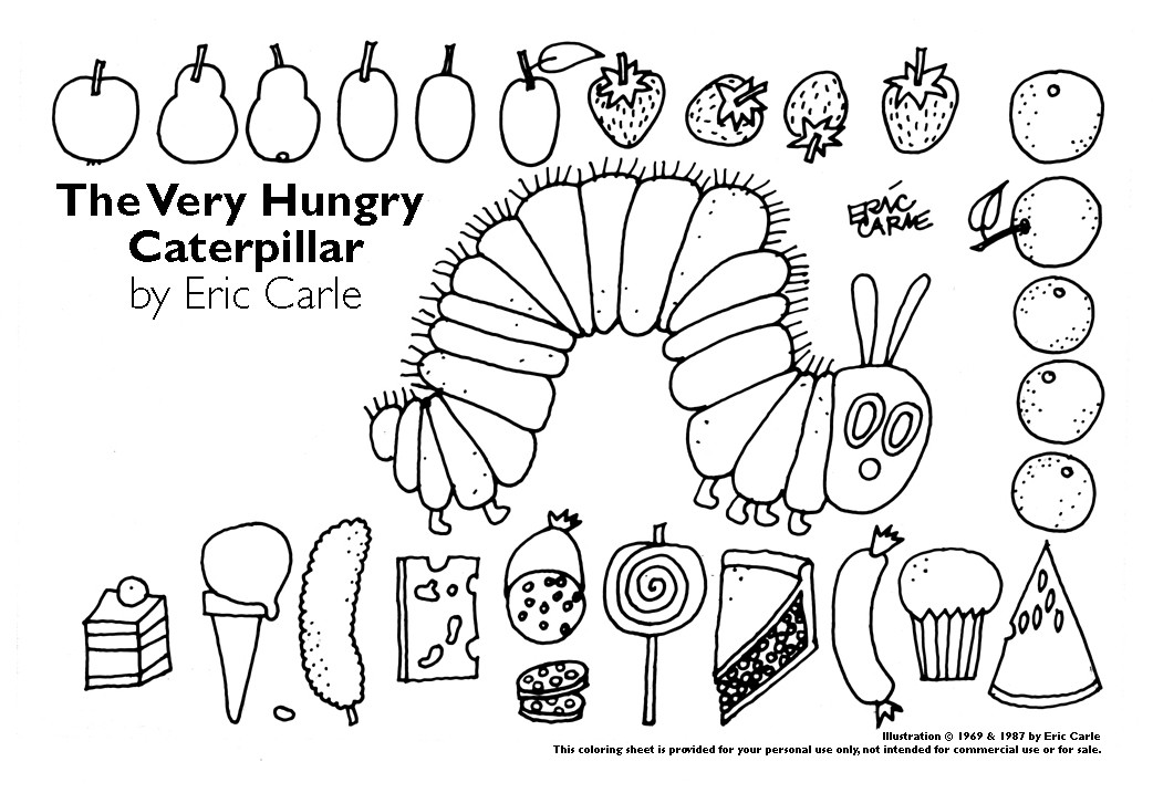 hungry caterpillar coloring sheets very hungry caterpillar coloring pages coloring home hungry caterpillar sheets coloring