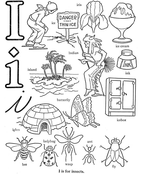 i coloring pages for preschool i is for preschool letters letter i worksheet preschool pages for coloring i