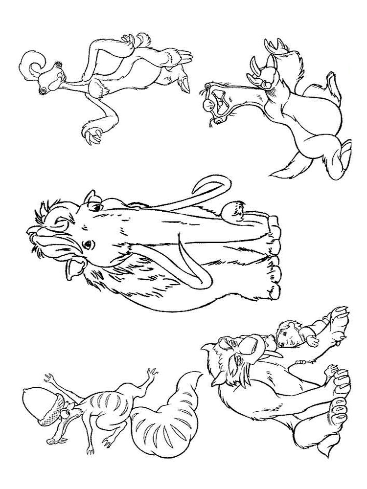 ice age printables ice age coloring pages coloring pages to download and print printables age ice