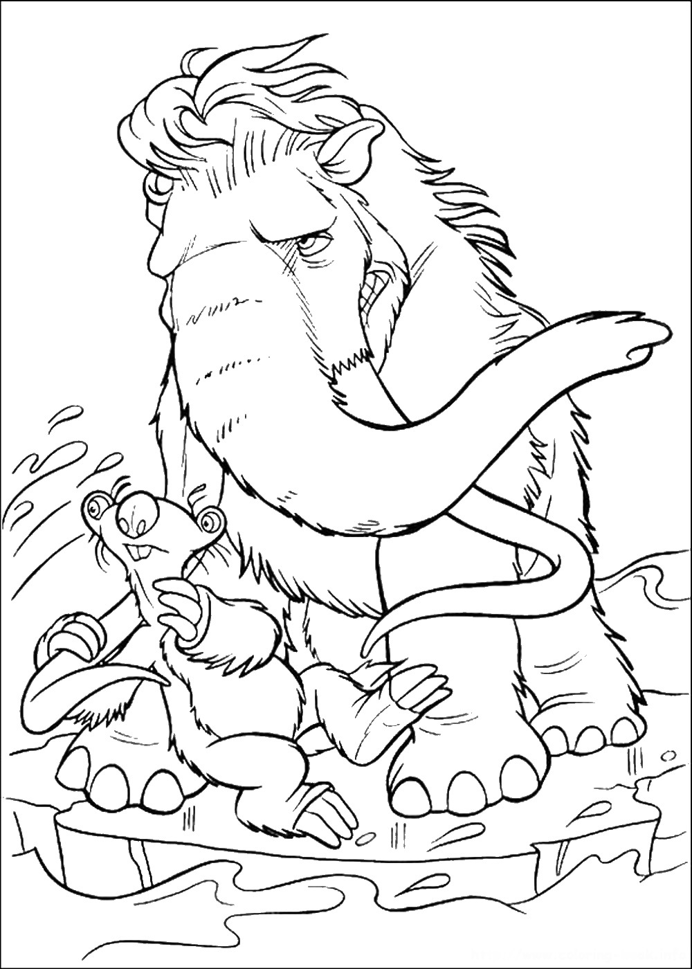 ice age printables ice age continental drift coloring pages coloring home printables age ice