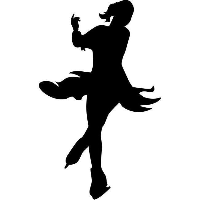 ice skater silhouette figure skaters silhouette at getdrawings free download silhouette skater ice 1 1