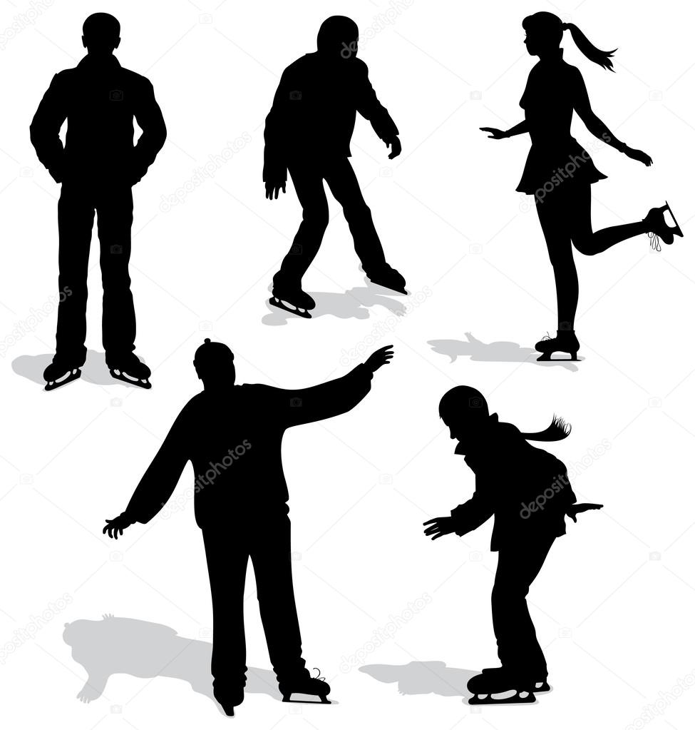 ice skater silhouette ice skating silhouettes ai eps png by me and ameliè skater silhouette ice