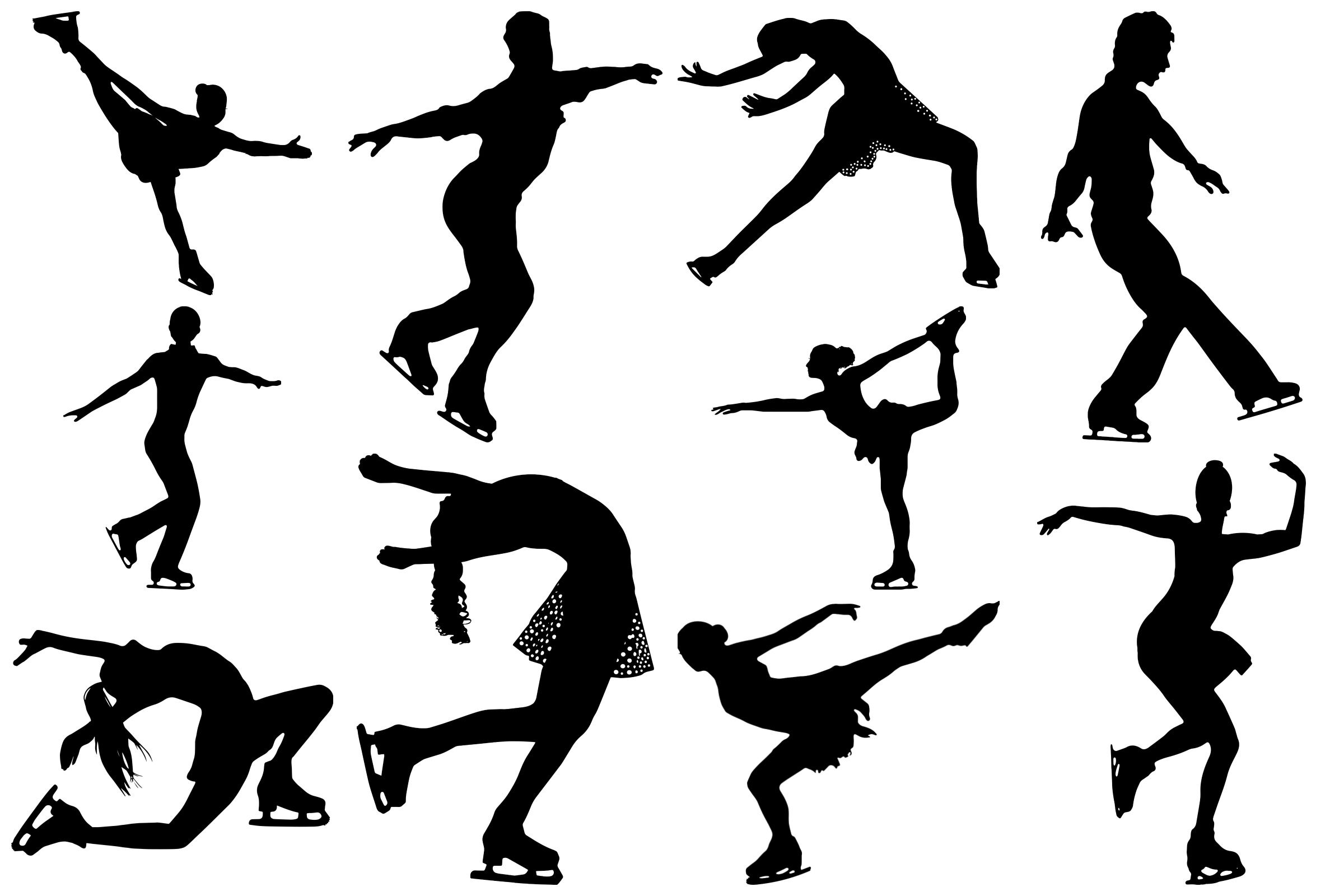 ice skater silhouette large ice skater wall sticker figure skating silhouette silhouette ice skater