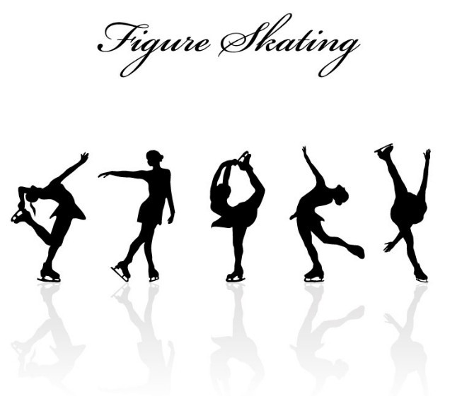 ice skater silhouette scalable vector graphics ice skating skateboarding skater ice silhouette