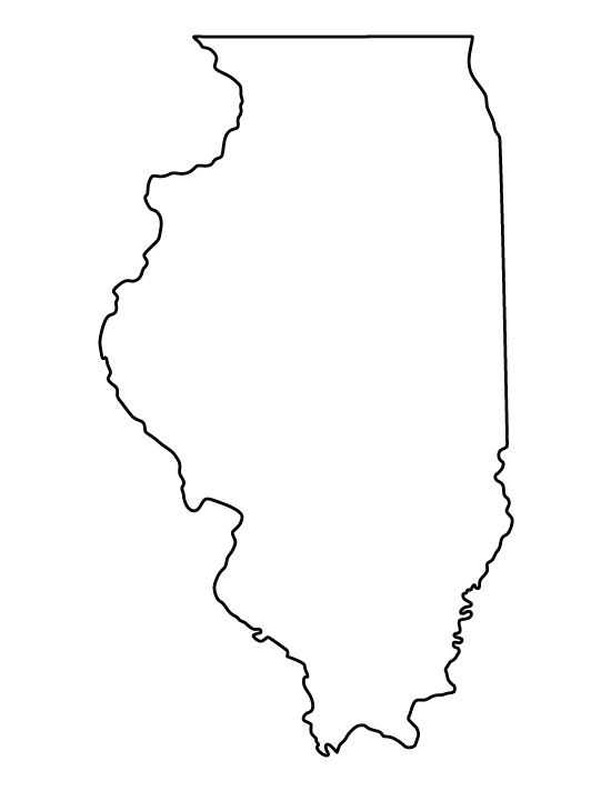 illinois silhouette clipart illustration of a gray state silhouette of illinois silhouette