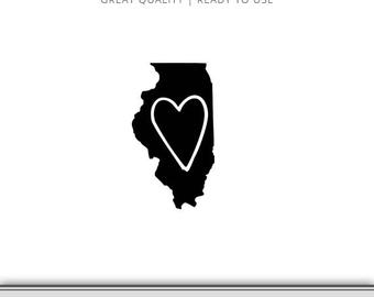 illinois silhouette clipart illustration of a gray state silhouette of silhouette illinois