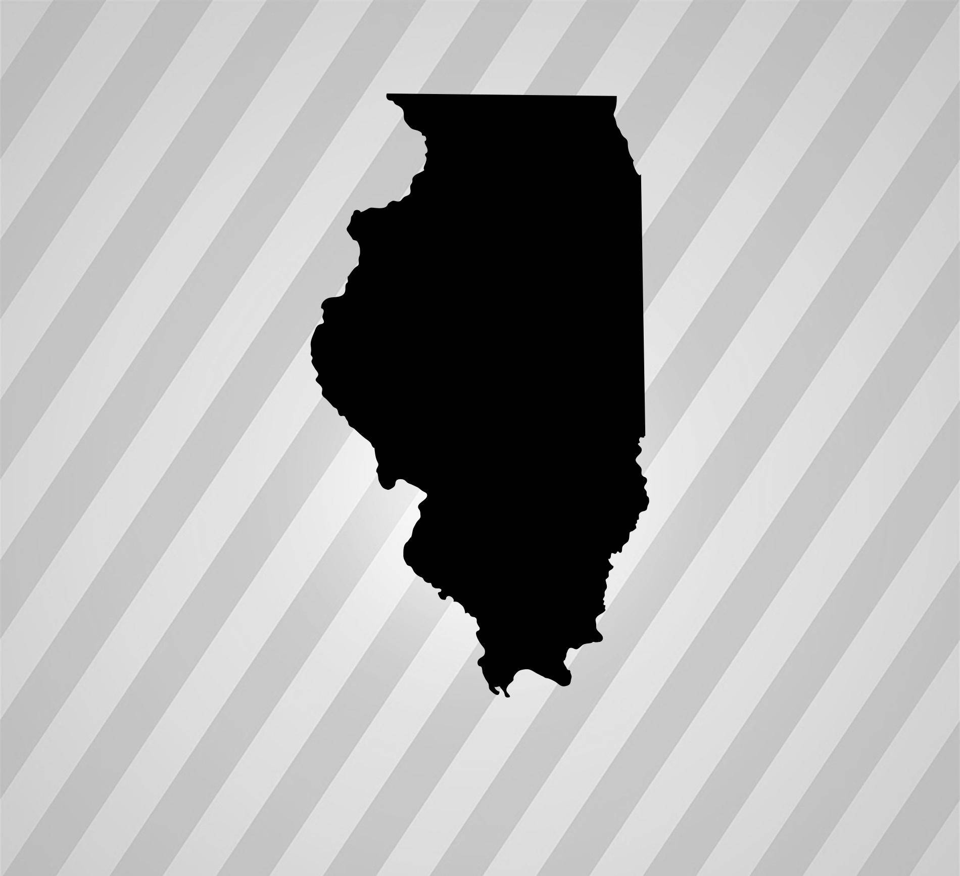 illinois silhouette illinois svg png dxf state home instant download illinois silhouette