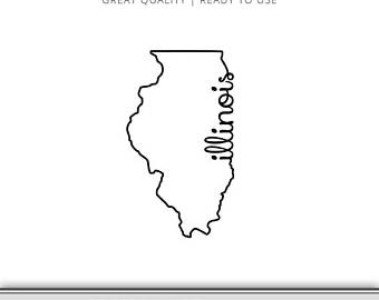 illinois silhouette image free state of illinois clipart 10png the silhouette illinois