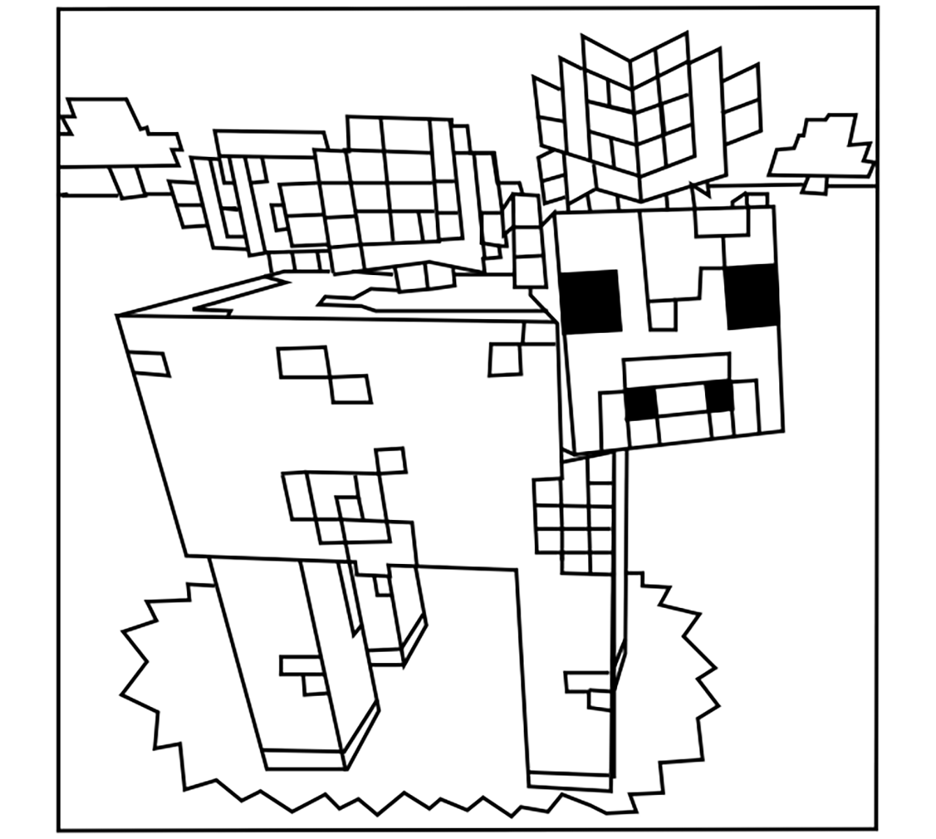 images of minecraft coloring pages minecraft coloring pages birthday printable pages coloring minecraft of images