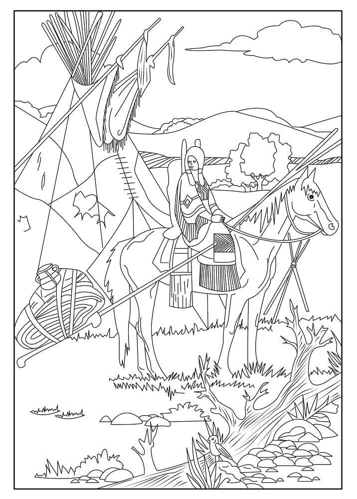 indian coloring page 30 free printable native american coloring pages indian page coloring