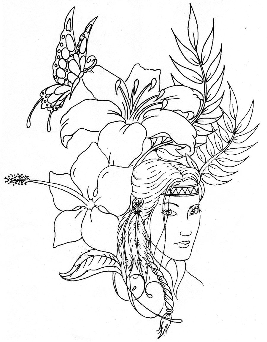 indian coloring page coloring page indian children coloring page indian