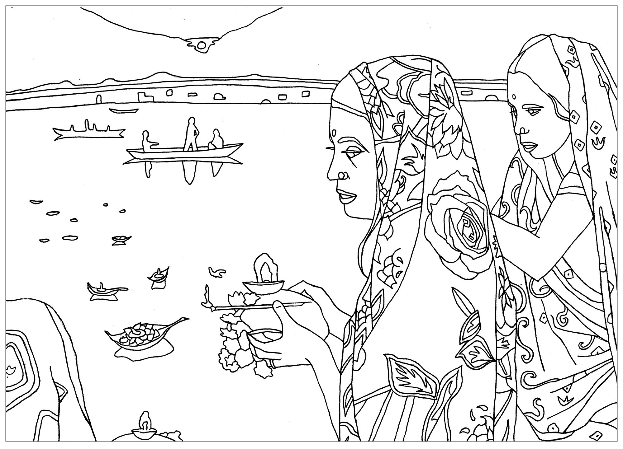 indian coloring page india puja rite india adult coloring pages coloring indian page