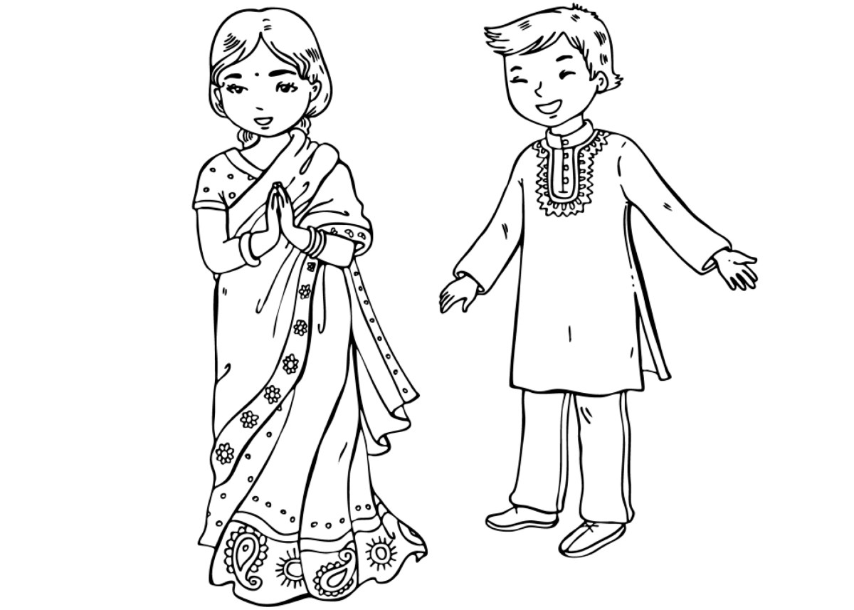 indian coloring page indians coloring pages indian page coloring