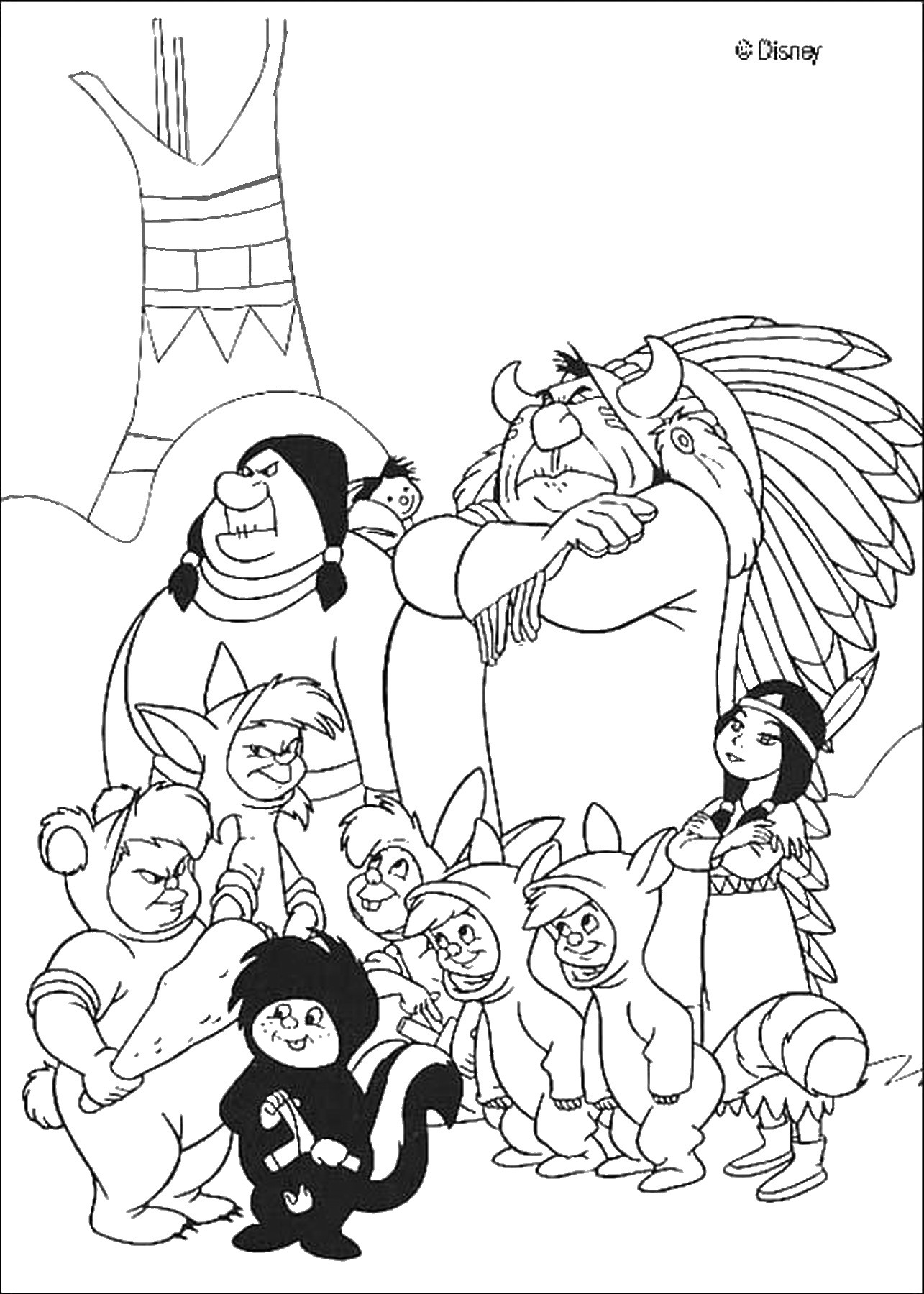 indian coloring page indians coloring pages indian page coloring 1 1