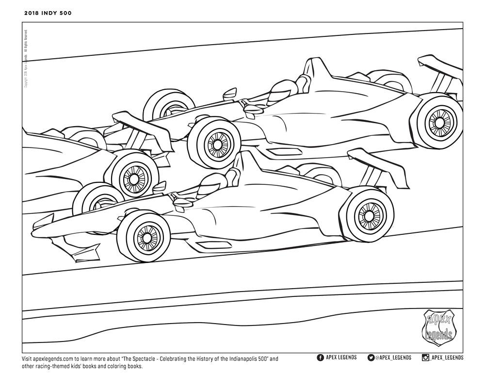 indy 500 coloring pages bluebonkers indy 500 racer 194039s coloring pages cars pages 500 coloring indy
