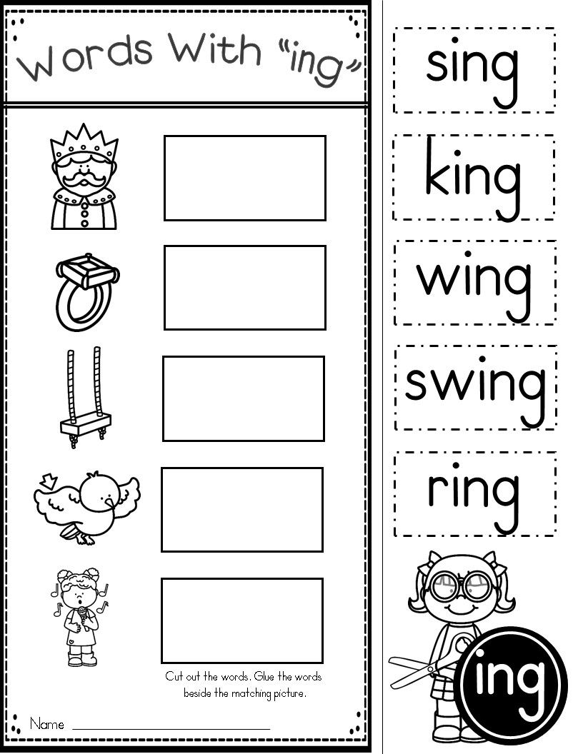ing pages ing words literacy stations pinterest kindergarten ing pages