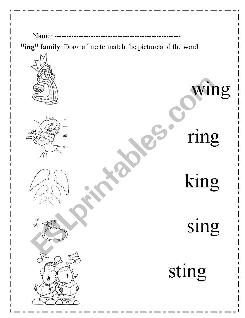 ing pages worksheets rhyming words wing and swing in 2020 ing pages ing
