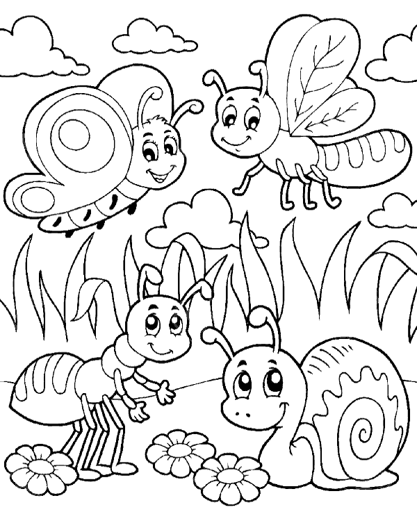 insect coloring pictures cheerful coloring page for kindergarten topcoloringpagesnet coloring pictures insect