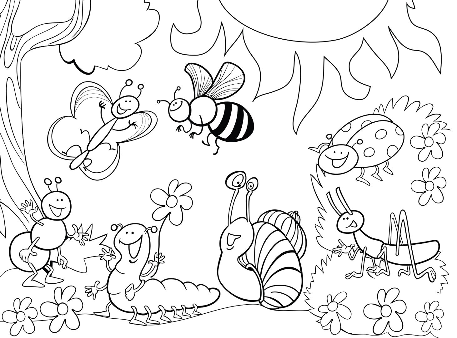 insect coloring pictures insects for kids insects kids coloring pages pictures coloring insect